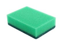 Sponge. Multicolored sponges for washing dishes Royalty Free Stock Images
