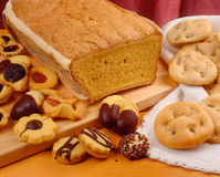 Sponge, biscuits and crackers Stock Photography
