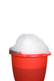 Sponge, bucket and soapy water stock photography