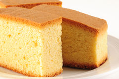 Sponge cake. Slices of baked sponge cake Stock Photography