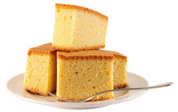 Sponge cake Royalty Free Stock Photos