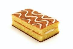 Sponge cake. On a white background Royalty Free Stock Photography
