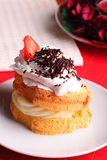 Sponge cake Stock Photos