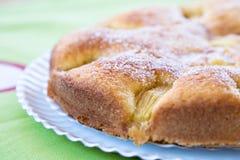 Sponge cake of apple Stock Photos
