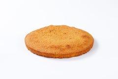 Sponge cake base Royalty Free Stock Photos