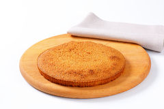 Sponge cake base Stock Image