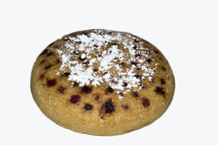 Sponge cake. The sponge cake with cherries Stock Image