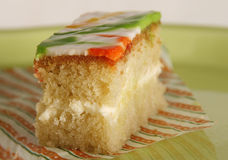 Sponge cake close up Royalty Free Stock Photo