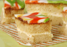 Sponge cake close up Royalty Free Stock Photos