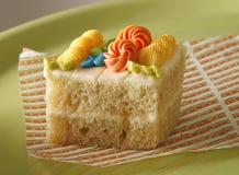 Sponge cake with cream Stock Image
