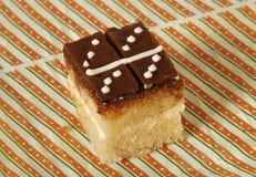 Sponge cake domino glaze Stock Image