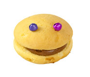 Sponge cake with eyes Royalty Free Stock Image