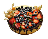 Sponge cake with fresh berries Royalty Free Stock Photography