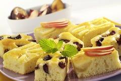 Sponge Cake with Fruit Royalty Free Stock Image