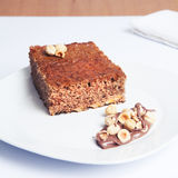 Sponge cake and hazelnuts. Stock Image