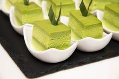 Sponge Cake Layered in Rich Pandan Kaya Stock Image