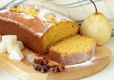 Sponge cake made ​​with cornmeal Royalty Free Stock Photos
