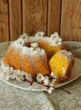 Sponge cake made with cornmeal Royalty Free Stock Image