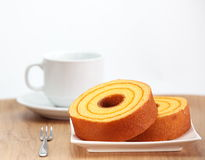 Sponge cake, orange Royalty Free Stock Photo