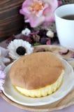 Sponge Cake Serving on Plate Stock Photography