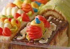 Sponge cakes assortment Stock Photo