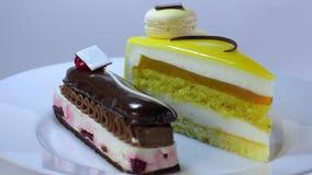 Sponge cakes stock video footage