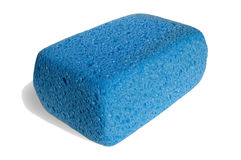 Sponge for cleaning. On white background Stock Photos