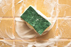 Sponge for cleaning Royalty Free Stock Photography
