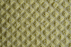 Sponge cloth. Close up view of yellow sponge cloth Royalty Free Stock Image