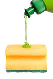 Sponge with detergent stock photography