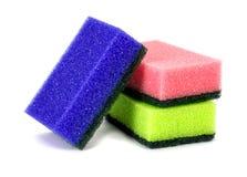 Sponge dish isolated on white background! Stock Images