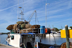 Sponge diving boat. A Sponge diving boat in Tarpon Springs, Florida, USA Stock Photo