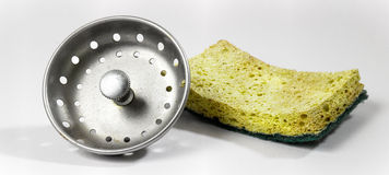 Sponge and drain plug Stock Image