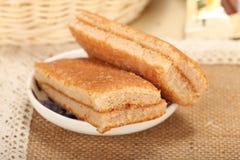 Sponge egg cheese cake Stock Image