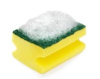 Sponge with foam Royalty Free Stock Photo