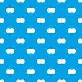 Sponge foam pattern seamless blue. Sponge foam pattern repeat seamless in blue color for any design. Vector geometric illustration stock illustration
