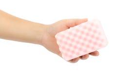 Sponge in hand Stock Photography