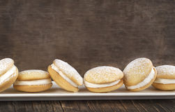 Sponge kisses with cream Royalty Free Stock Photography