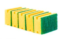 Sponge. Kitchen scouring sponge royalty free stock photo