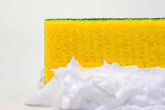Sponge and lather Stock Photo