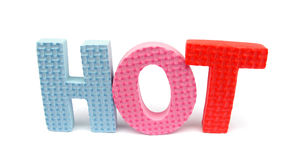 Sponge letters spelling 'HOT' Stock Photography