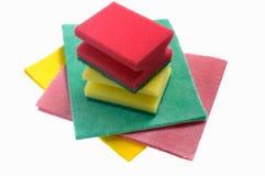 Sponge and napkins Royalty Free Stock Photo