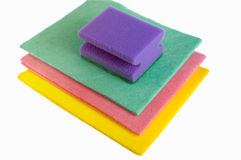 Sponge and napkins Royalty Free Stock Image