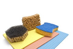 Sponge and rag Stock Image