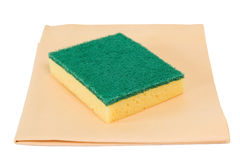 Sponge and rag Royalty Free Stock Image