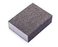 Sponge sanding block isolated Royalty Free Stock Images