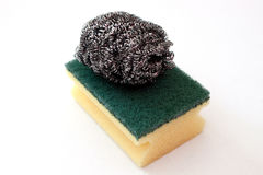 Sponge and scraper Stock Photography