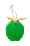 Sponge in the shape of apple Stock Images