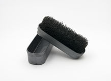 Sponge for shoes. Cleaning Stock Image