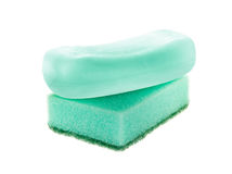 Sponge and soap Royalty Free Stock Image